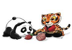 Baby Po and Cub Tigress by ViralJP.deviantart.com on @deviantART