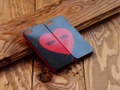 3D printed iPhone case for couples. customizables with names. The perfect gift for Valentines Day. Available on www.theprintables.net