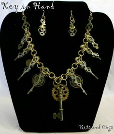Beautiful Elegant Chainmaile Steampunk Jewelry Set by BitsandCogs, $40.00