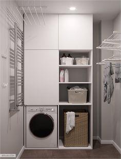 Bad Room Design, Kitchen Room Design, Laundry Room Design, Bathroom Interior Design, Home Decor Kitchen, Modern Laundry Rooms, Laundry Room Layouts, Laundry Room Organization, Laundry Room Inspiration