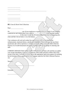 collection letter template second notice business forms