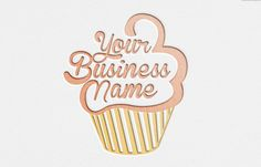 Bakery logo cupcake logo cake logo bakery design by OBercailDesign Logo Cake Design, Baking Logo Design, Bakery Design, Cupcake Logo, Cupcake Icon, Logo Patisserie, Boutique Patisserie, Logo Boulangerie, Logo Doce
