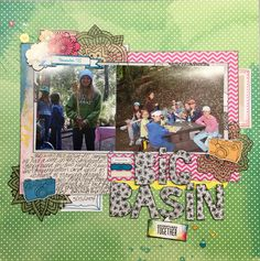 This was done for the scrapbook with minimal supplies challenge at Shimelle.com