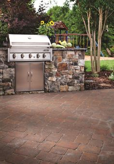 Every outdoor space needs a grill for the summertime - there's nothing like the taste of food fresh off the grill.