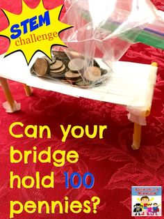 Kindergarten stem - STEM challenge Design a bridge – Kindergarten stem School Age Activities, Steam Activities, Science Activities, Science Lessons, Science Experiments, Science Crafts, Science Education, School Age Crafts, Steam Education