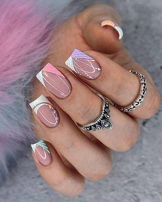 Short Square Nails, Short Nails, Chic Nails, Stylish Nails, Palm Nails, Graduation Nails, Nails Design With Rhinestones, Elegant Nails, French Tip Nails