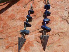 Lapis Lazuli Earrings with Silver by FaerieTeaAndTreasure on Etsy, $25.00