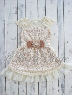 Flower Girl Dress Lace Flower girl dress flower by ElluraSage