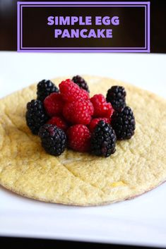 Easy to make egg pancake perfect for breakfast. Healthy, high protein, tasty.