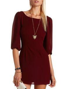 Zip-Back Chiffon Shift Dress from Charlotte Russe ($28.99)