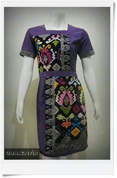 hfh Batik Kebaya, Batik Dress, Traditional Fabric, Traditional Dresses, Kurta Designs Women, Blouse Designs, Casual Work Outfits, Work Casual, Myanmar Traditional Dress