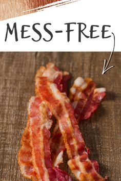 How to Cook Mess-Free Bacon in the Oven Bacon Recipes, Brunch Recipes, Appetizer Recipes, New Recipes, Breakfast Recipes, Dinner Recipes, Favorite Recipes, Beans Recipes, Breakfast Casserole
