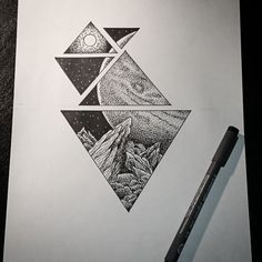 Awesome dot/blackwork tattoo idea, could be anything else too instead of space themed