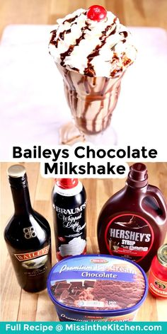 Baileys Chocolate Milkshakes are a quick and easy frozen dessert cocktail that is a delicious way to enjoy any day of the week. Cocktail Desserts, Best Cocktail Recipes, Best Dessert Recipes, Drink Recipes, Homemade Baileys, Homemade Chocolate, Chocolate Recipes, Chocolate Milkshake, Chocolate Shake