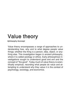 VALUE THEORY. #typography #philosophy #typographyposter
