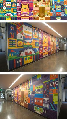 Disney Wall by Christopher Lee - Wall murals in schools can be very art inspiring for kids.