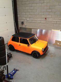 orange/black classic Mini