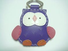 Leather Owl key chain
