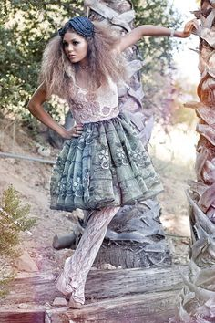 Winter Forest Green and Blush beaded Pink Party Dress by CGHeaven, $199.00