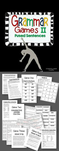 Tired of pointing out comma splices and run-ons? Help your students learn with Grammar Games!