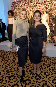 Olivia Palermo and designer Layal Makarem attend the launch of new luxury womenswear label Maison Makarem during London Fashion Week Spring/Summer...