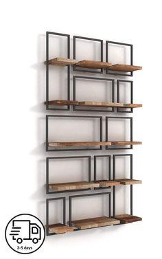 Diy Bedroom Decor, Living Room Decor, Diy Home Decor, Wall Shelves, Shelving, Muebles Living, Regal Design, Masonry Wall, Deco Design