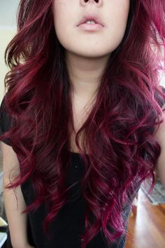 Purple Red Hair Pinterest
