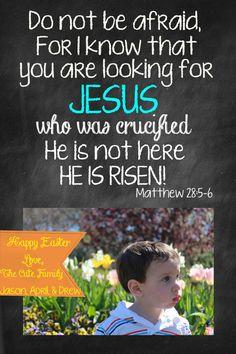 Easter Chalkboard Scripture Digital Card