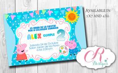 Digital Personalizated Invitation  (peppa theme)