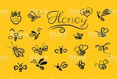 Vector background with bees for your design. royalty-free stock vector art