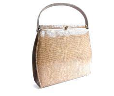 Vintage Tan Purse  1960s Kelly Bag / Faux by MaejeanVINTAGE, $32.00