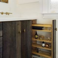 look at this use of space... and I like the wood cupboards