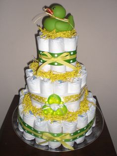 green and yellow baby shower - Google Search