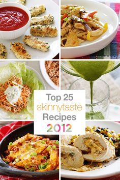 Top 25 Skinny Recipes 2012 - these are the 25 most visited recipes on my site from 2012.