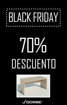 Benefíciate de nuestra promoción del BLACK FRIDAY: te ofrecemos un 70% de descuento en nuestra serie color, mesa COR 502 de 1600x800, acabado roble (25mm). La oferta estará disponible sólo hasta el 6 de Diciembre, o hasta fin de existencias.  ¡Contacta ya por e-mail con nuestro departamento comercial!  *Promoción válida sólo para distribuidores oficiales.  #BlackFriday