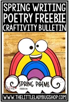 You'll love this Free Spring Writing freebie! It's available for a limited time, so grab it to start using this season! Your kids will love creating their poetry with this fun template! #poetryforkids