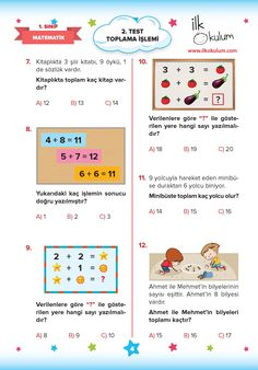 Learn Turkish, B 13, Student, Math, Learning, Math Resources, Early Math, Teaching, Mathematics