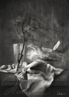 Still life Charcoal and Pencil