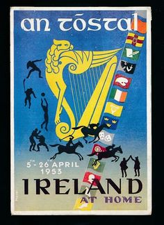 Ireland 1953 An Tostal Display Pageant Events April used 1953 PPC Irish Sayings, Irish Quotes, Pageant, Baby Items, Coupons, Ireland, Prayers, Events, Display