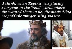It's the other way around.. They based the king off the Burger King mascot! Lol