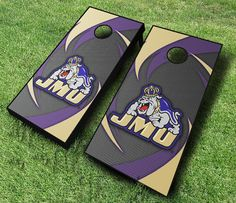 Bring the Dukes pride to any tailgate with these James Madison cornhole boards; decked with a sightly swoosh pattern and. Cornhole Rules, Cornhole Set, Regulation Cornhole Boards, James Madison University, Ready To Play, Team Logo, Pattern, Etsy, Yard Games