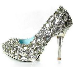 "I like the idea of wearing ""glass slippers"" for the wedding, and I love these."