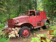 abandoned powerwagon fire truck
