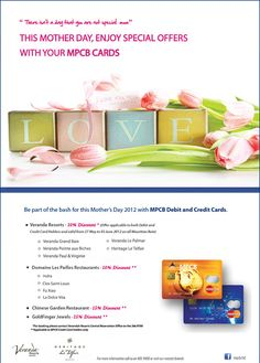 Cherish your Mother with MPCB Cards. Info: 405 9400
