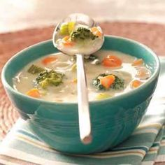 Carrot Broccoli Soup Recipe from Taste of Home -- shared by Sandy Smith of London, Ontario