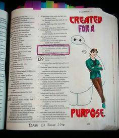 Bev Knaup bible journaling  Psalm 138:8