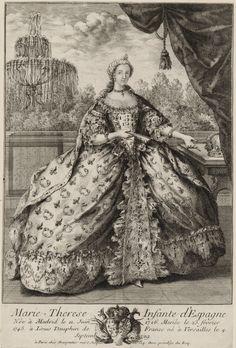 1746 Marie Thérèse Raphaëlle, Infanta of Spain by ? (Bibliothèque nationale de France) detint