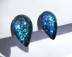 Clip-On Galaxy Futuristic Teardrop Earrings  by TheGlitorisShop