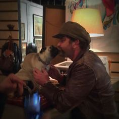 From Shae Lana's FB page: Got to watch Gerald Butler make out with a dog tonight.