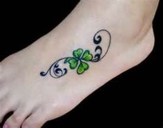 Clover Tattoo B  Free Download 11188 With Love this, I think this is the next tat. Love the placement too.